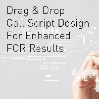 Discussing Drag & Drop call script design at London Tech Week to enhance FCR
